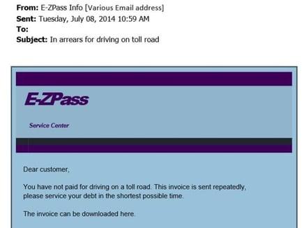 E-ZPass E-mail Scam